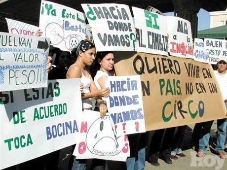 Protesta de clase media en Santiago