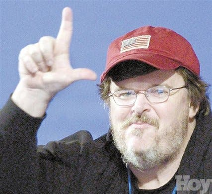"""Michael Moore: """"Sólo espero que Bush <BR>sea expulsado de la Casa Blanca"""""""