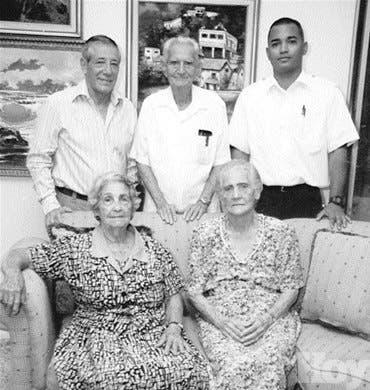 La familia Mejía Pumarol