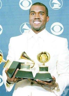 Kanye West, de diez nominaciones sólo tres Grammys