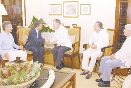 Presidente se reúne con Bush padre