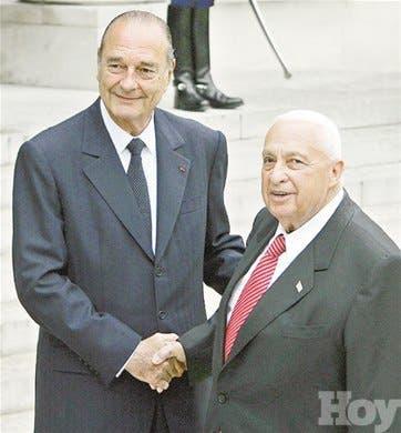 Chirac y Sharon refuerzan nexos
