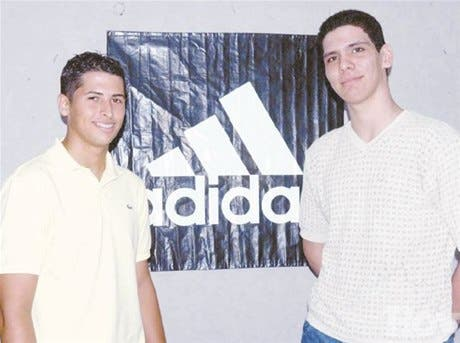 Madera y Ortiz al Adidas Camp