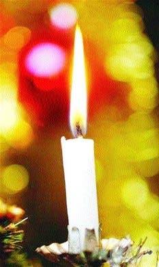 Un momento especial a la luz de las velas