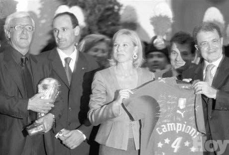 Presidente de Italia recibe a los campeones