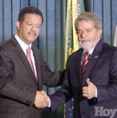 Leonel propone a Lula una<BR>alianza para el desarrollo