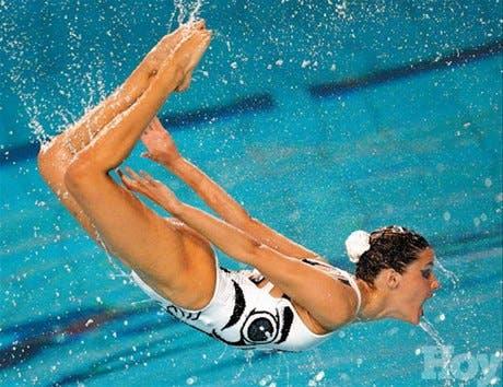 <STRONG>En rosa</STRONG><BR>Victoria para las chicas del<BR>equipo español de nado sincronizado