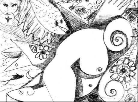María Aybar expone desde hoy dibujos al carboncillo