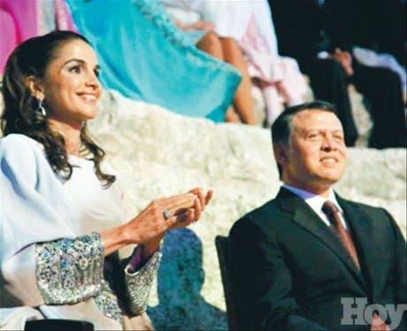 <STRONG>En rosa<BR></STRONG>Abdalá y Rania orgullosos en la entrega de los premios nacionales