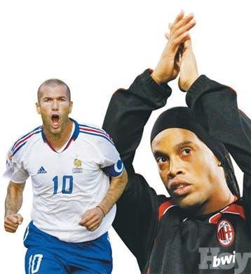 <STRONG>Reportaje<BR></STRONG>Ronaldinho y Zidane fútbolistas con más lauros en la década