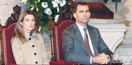 <STRONG>En rosa</STRONG><BR>Los príncipes de Asturias