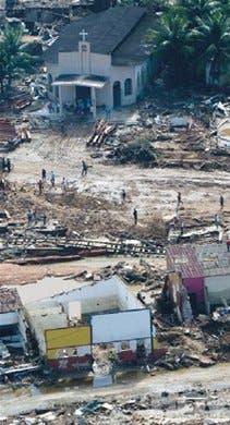 Buscan desaparecidos en Brasil tras intensas lluvias