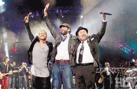 Juan Luis, Rubén Blades y Robi Draco logran rotundo éxito
