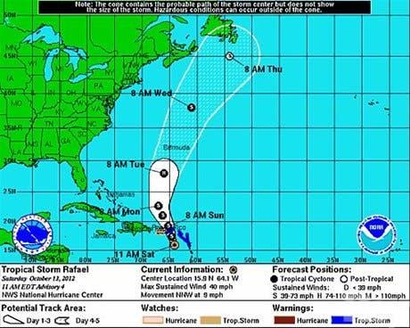 <P><STRONG>Emiten advertencia de tormenta tropical por Rafael; pronostican aumento delluvias </STRONG></P>