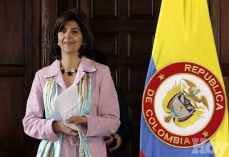 Canciller colombiana Holguín llega a Venezuela para reunirse con Jaua