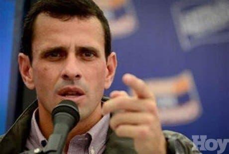 Capriles envía carta al papa Francisco