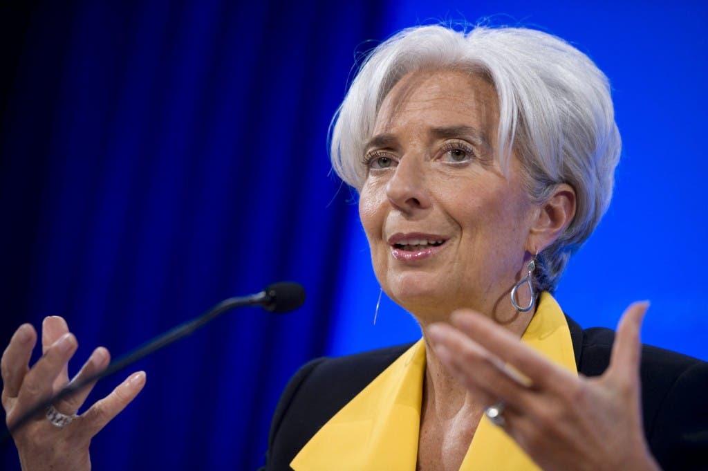 La directora gerente del Fondo Monetario Internacional (FMI), Christine Lagarde, EFE/Shawn Thew
