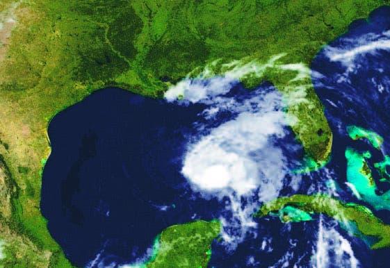 Imagen satelital de la tormenta tropical Karen