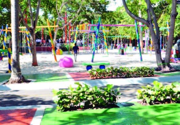 Una de las áreas del parque Iberoamérica reconstruida por el Ayuntamiento de la ciudad de SD. francisco reyes