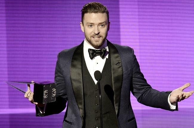 El cantante Justin Timberlake durante su actuación en los premios del pasado domingo donde resultó el máximo ganador.