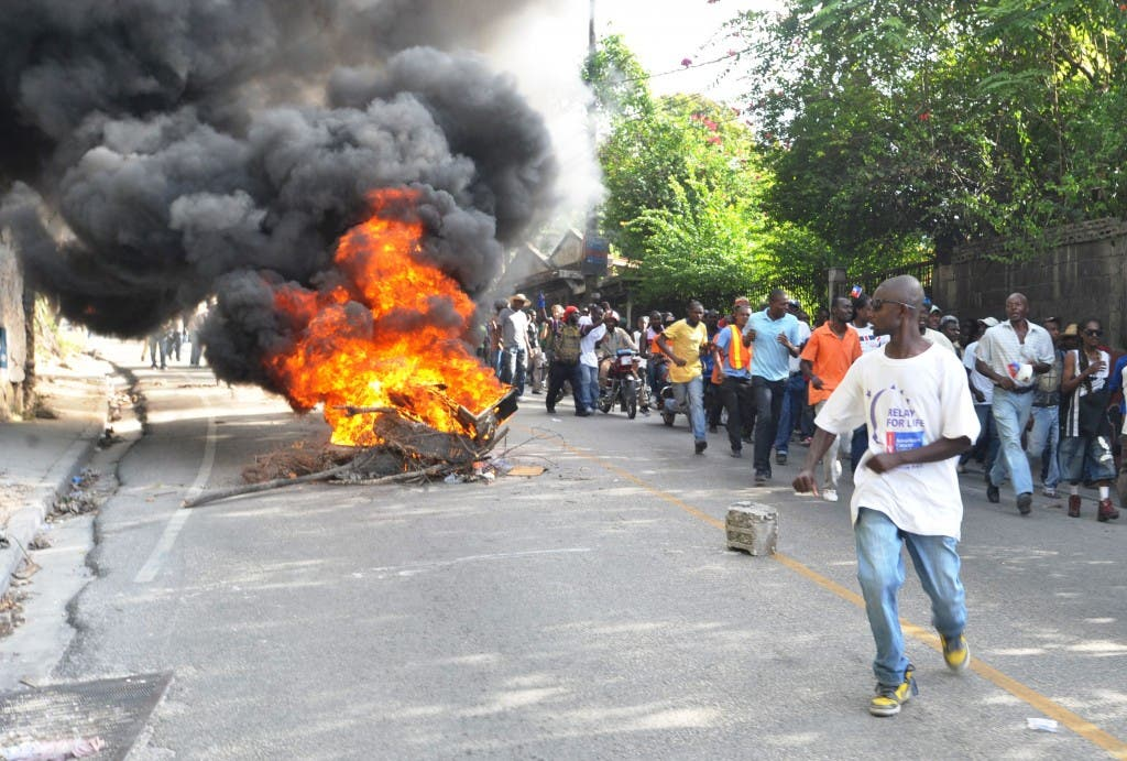 HAITI-POLITICS-PROTEST