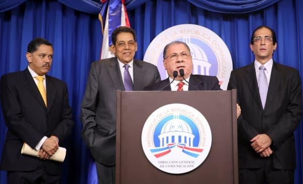 José R. Fadul al finalizar Consejo de Migración de  la pasada semana. Pablo Matos