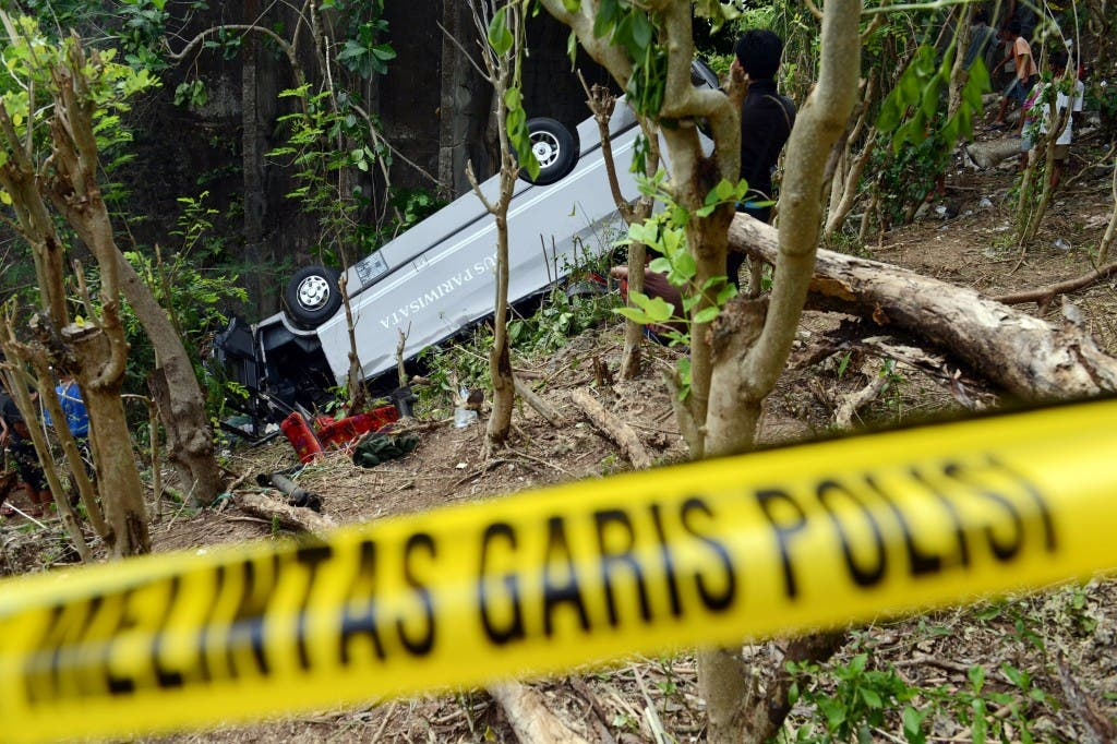 INDONESIA-CHINA-ACCIDENT-ROAD
