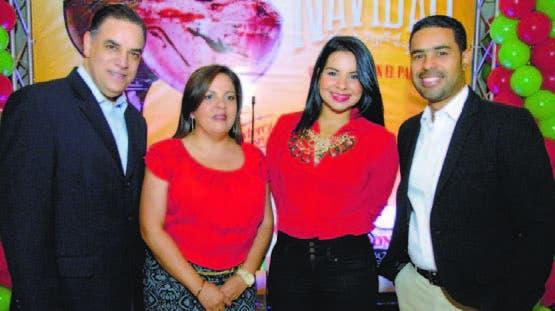José Fernández, Carolina Pantaleón, Lía Germán,  y Roberto Caraballo