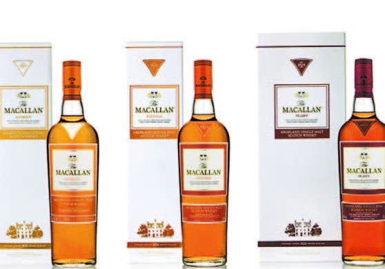 Los tres tipos de whisky de The Macallan