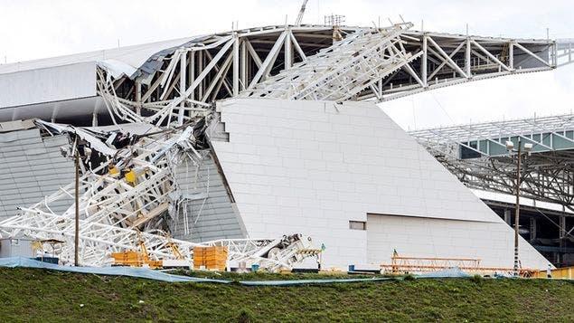 Estadio donde ocurrió accidente.
