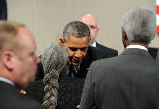 El presidente Barack Obama durante la vista.