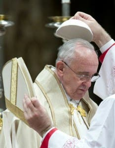 Papa Francisco, en la Basilica del Vaticano. Foto AP