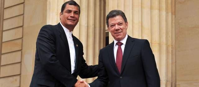 Presidentes Santos y Correa