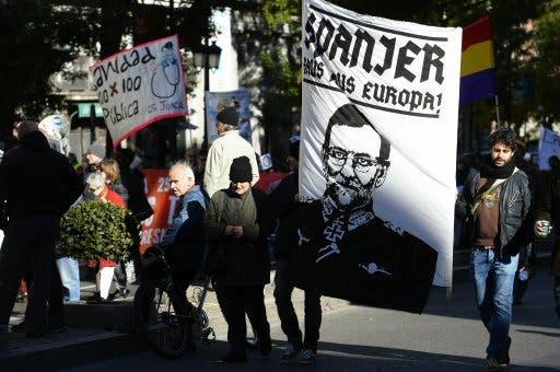 Protesta en Madrid por austeridad. Foto AFP GERARD JULIEN