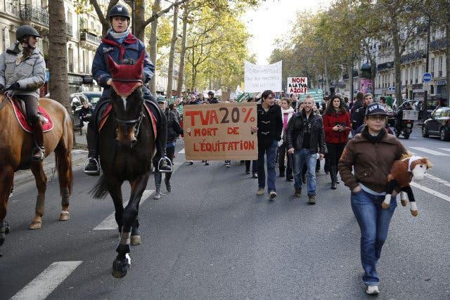 Protesta en la autopista A7
