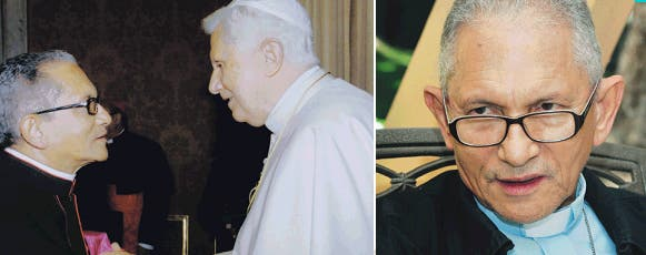 Con el papa Benedicto XVI en 2008.