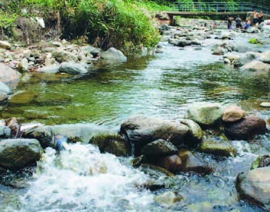 El río Jagüey  es el más importante en la zona de Loma Miranda