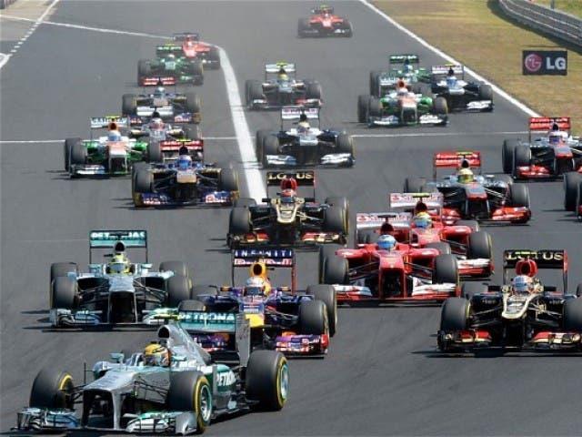 Carrera Fórmula Uno. Foto de archivo.
