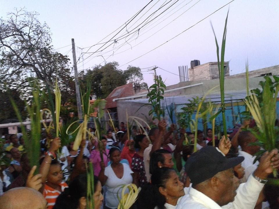 Comunidad católica celebró Domingo de Ramos