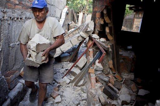 Desolación en ciudad nicaragüense de Nagarote tras sismo de 6.2 grados