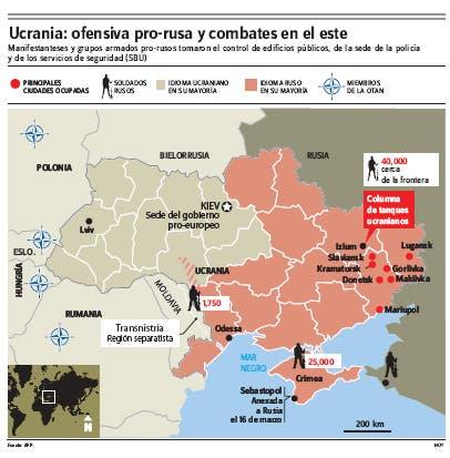 "Ucrania ordena liquidar grupos prorrusos; Rusia teme ""guerra"""