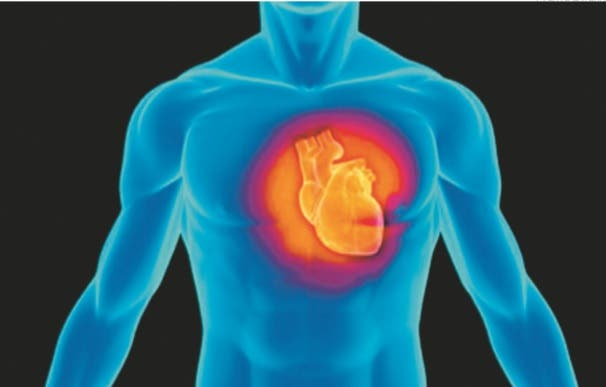 a que lado del cuerpo se encuentra el corazon