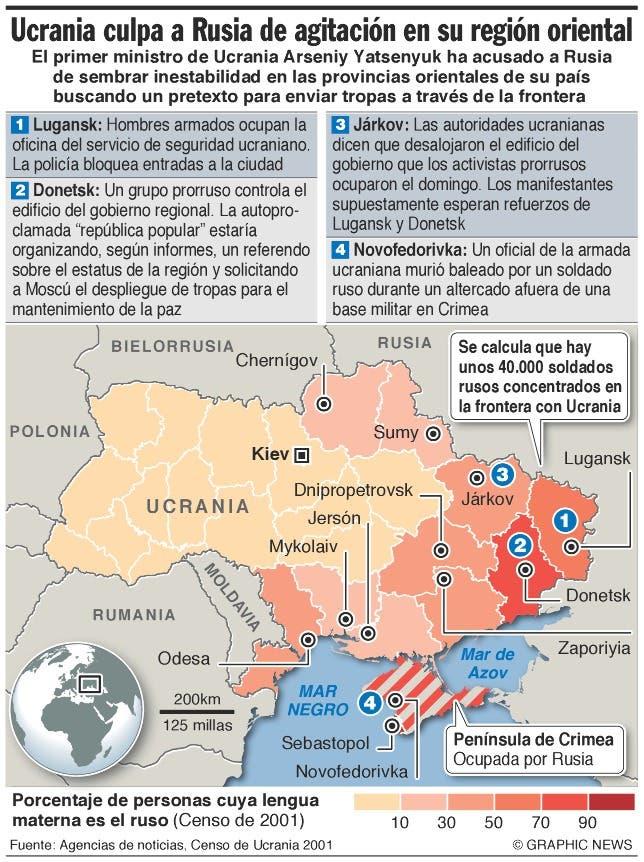 Ucrania intenta retomar el control del este del país ante amenaza separatista