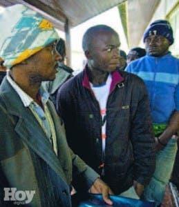 Algunos de los africanos
