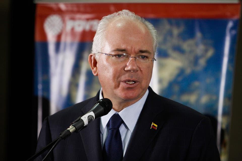 El vicepresidente económico Rafael Ramírez hizo ayer el anuncio del pago de las deudas.
