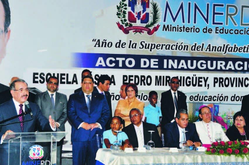 En la inauguración, el presidente Danilo Medina explica sus expectativas para el año lectivo próximo
