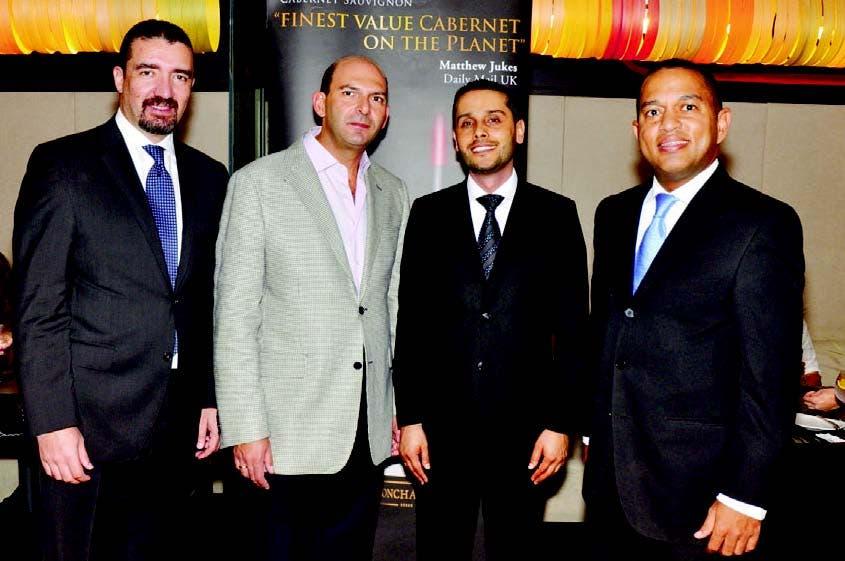 Ferney García, Pierre Nahas, Jaime Hencapie y Exmin Carvajal