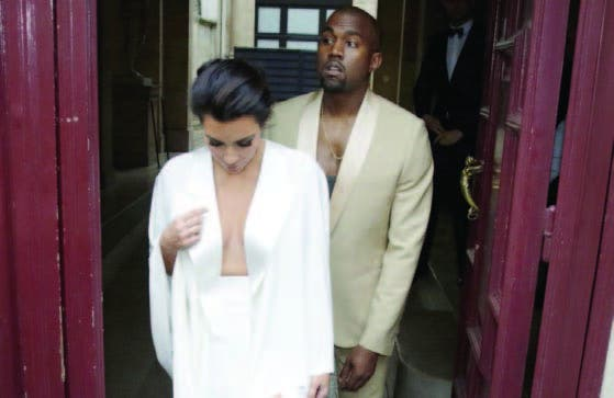 Kim Kardashian y Kanye West ganarán US$21 millones con la boda