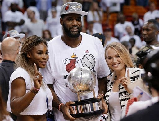 Serena Williams, Carolina Wozniacki, Greg Oden