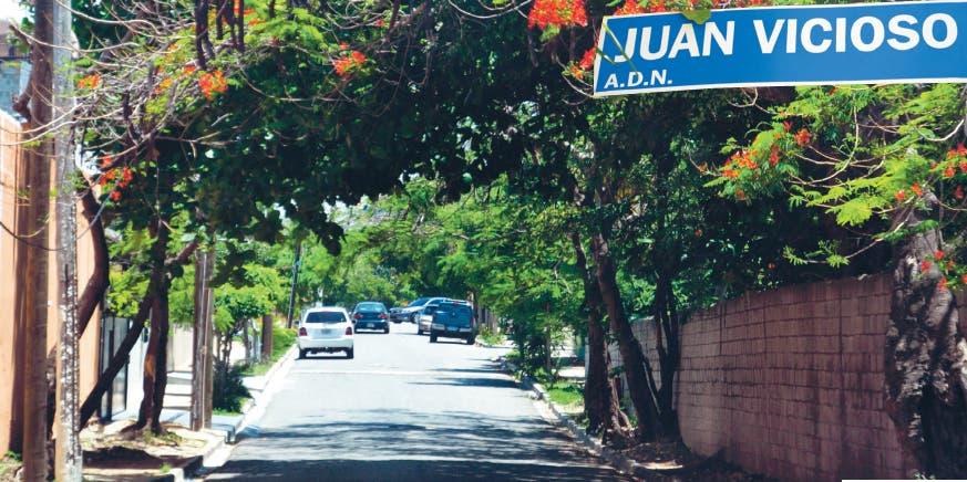 Calles y avenidas. En honor a Juan A. Vicioso Vargas
